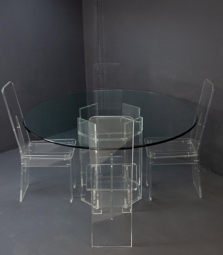 Lucite Dining Room Set 6