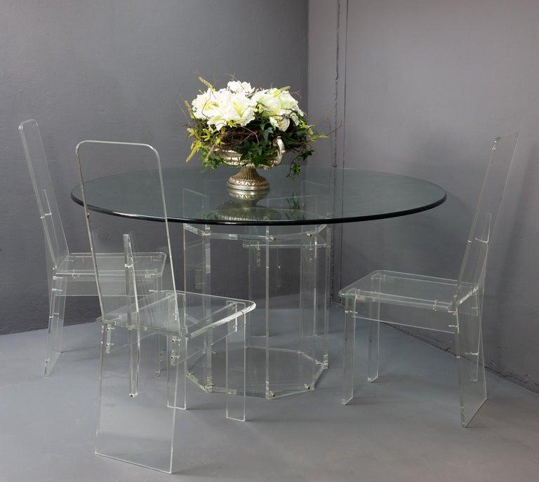 Dining Room Sets On Sale: Lucite Dining Room Set For Sale At 1stdibs