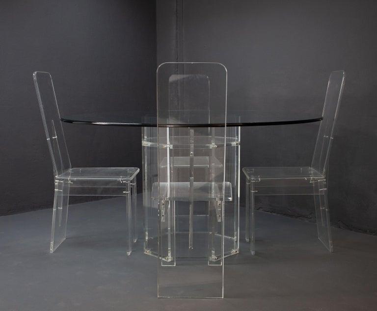 Modern Lucite Dining Room Set