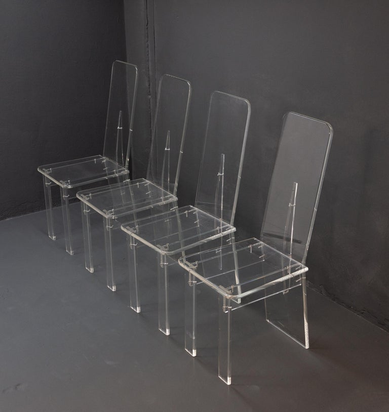 French Lucite Dining Room Set