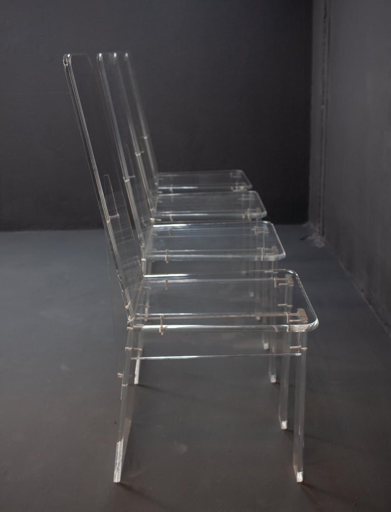 Lucite Dining Room Set In Good Condition In Den Haag, NL