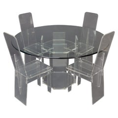 Lucite Dining Room Set