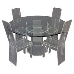 Lucite Dining Room Set