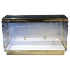 Lucite Display Cabinet in the Style of Charles Hollis Jones