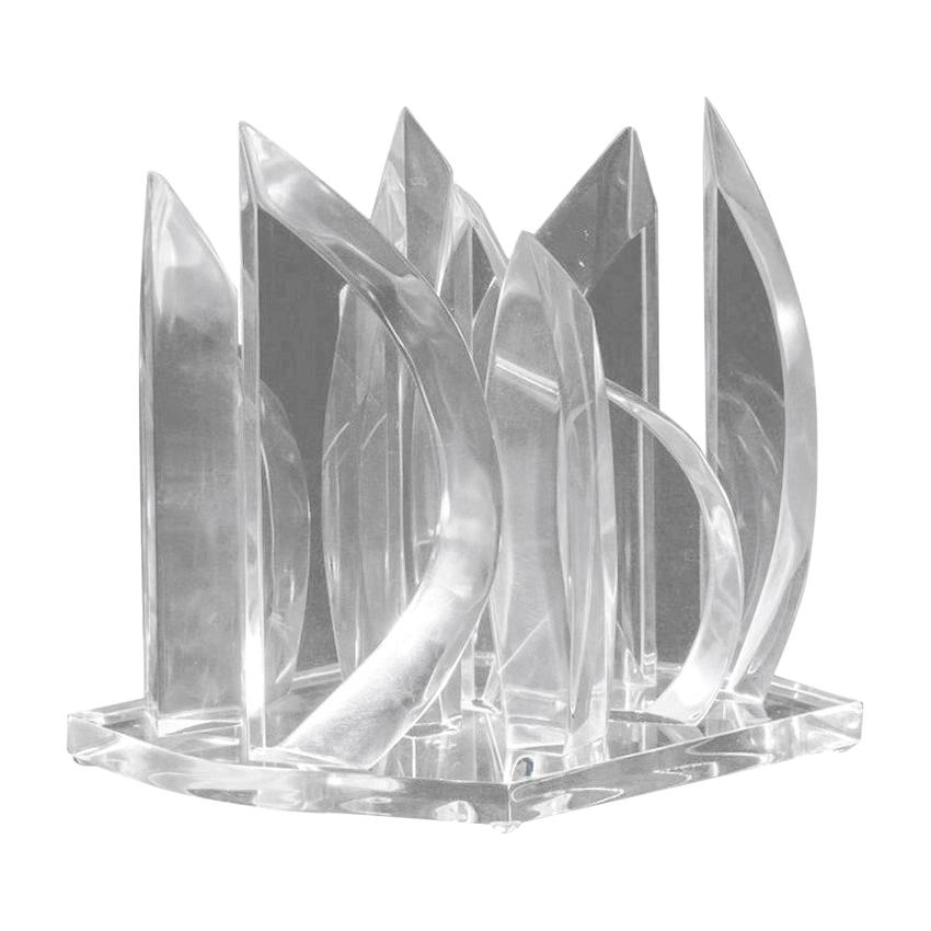 Lucite Flames Sculpture