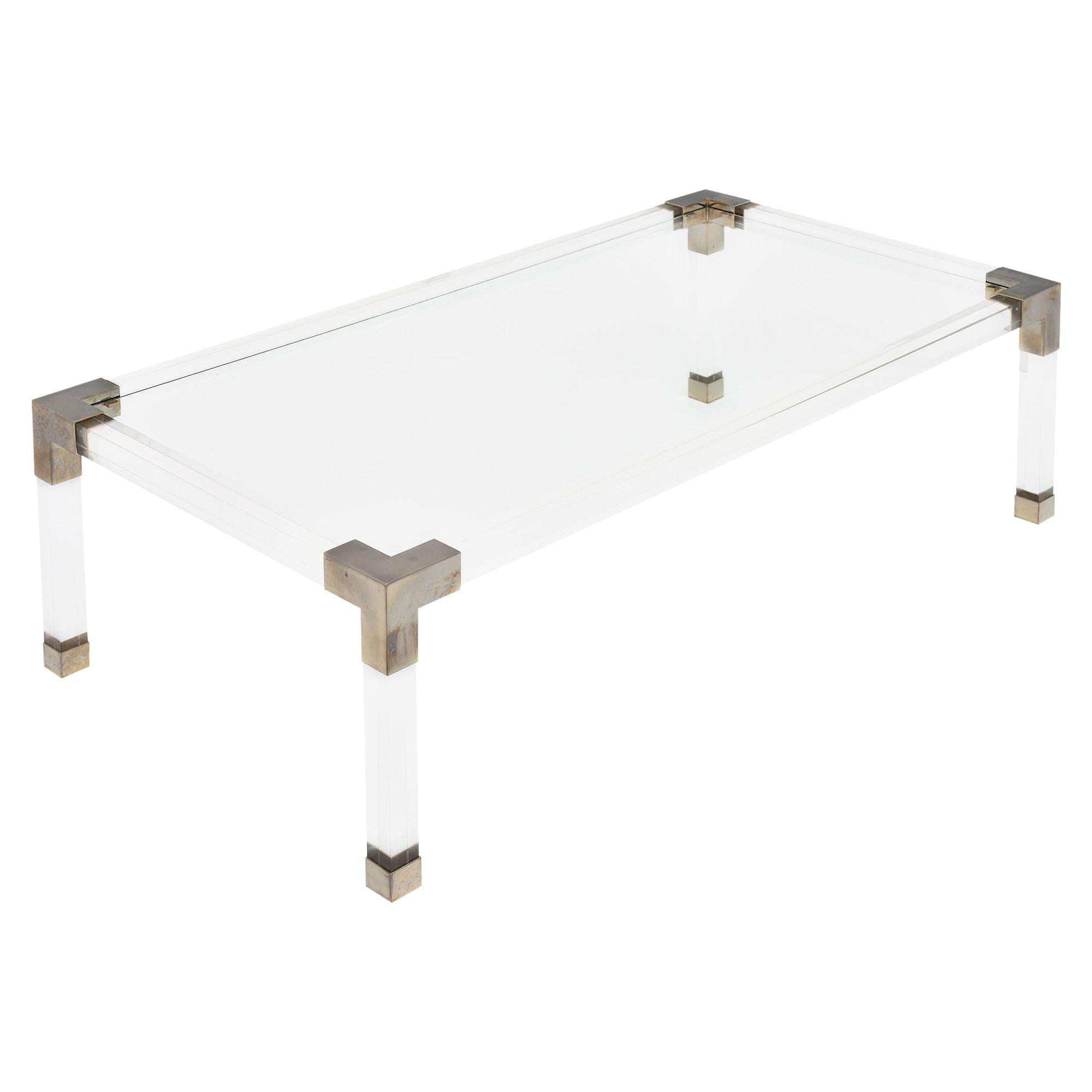 Lucite French Vintage Coffee Table