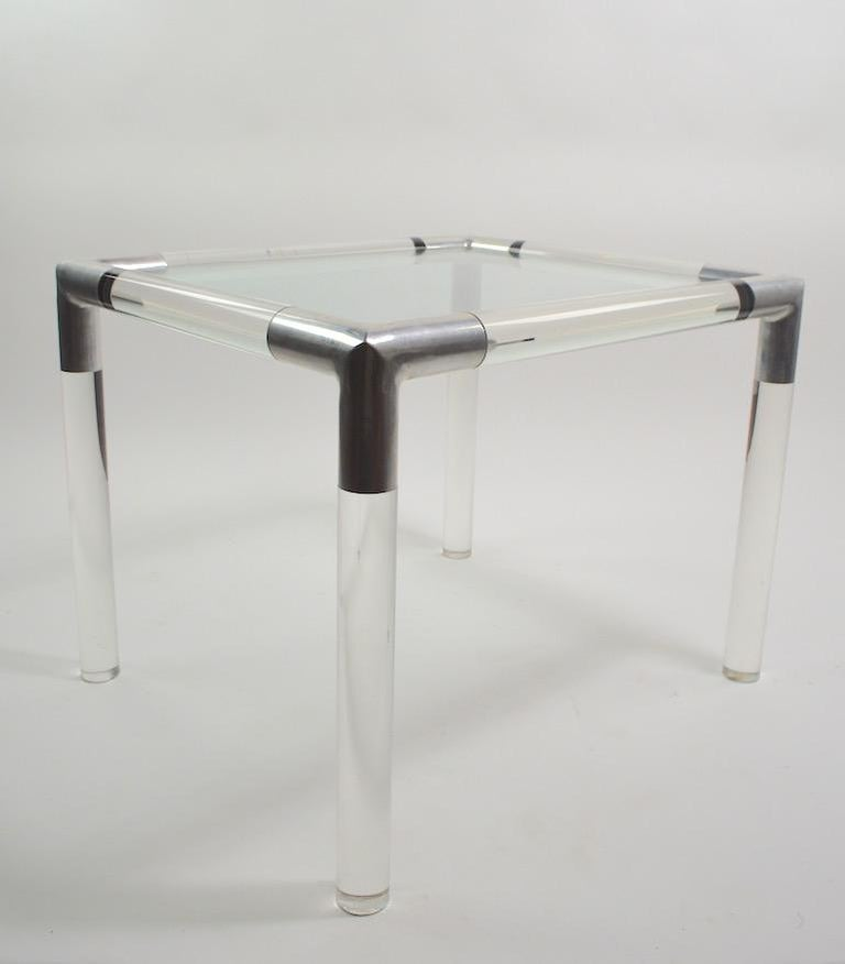 Lucite Glass Table by Charles Hollis Jones For Sale 1