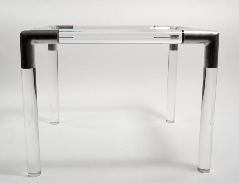 Lucite Glass Table by Charles Hollis Jones For Sale 3