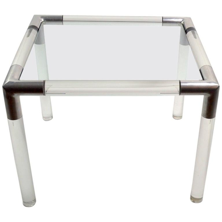 Lucite Glass Table by Charles Hollis Jones For Sale