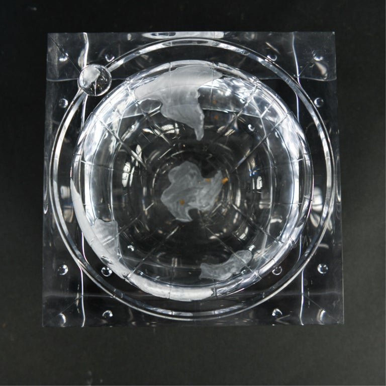 Lucite Globe Ice Bucket For Sale 5