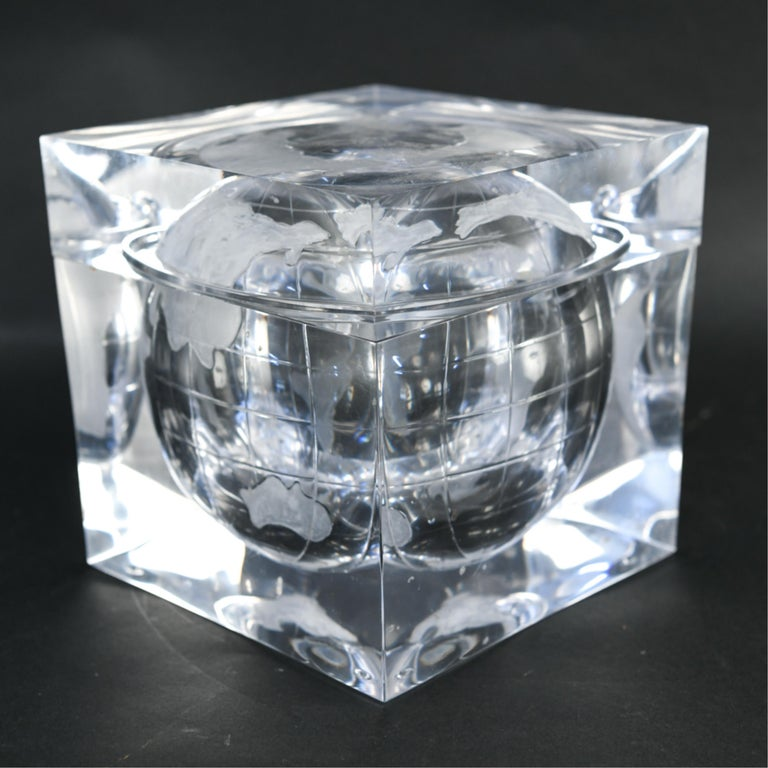 Lucite Globe Ice Bucket For Sale 6