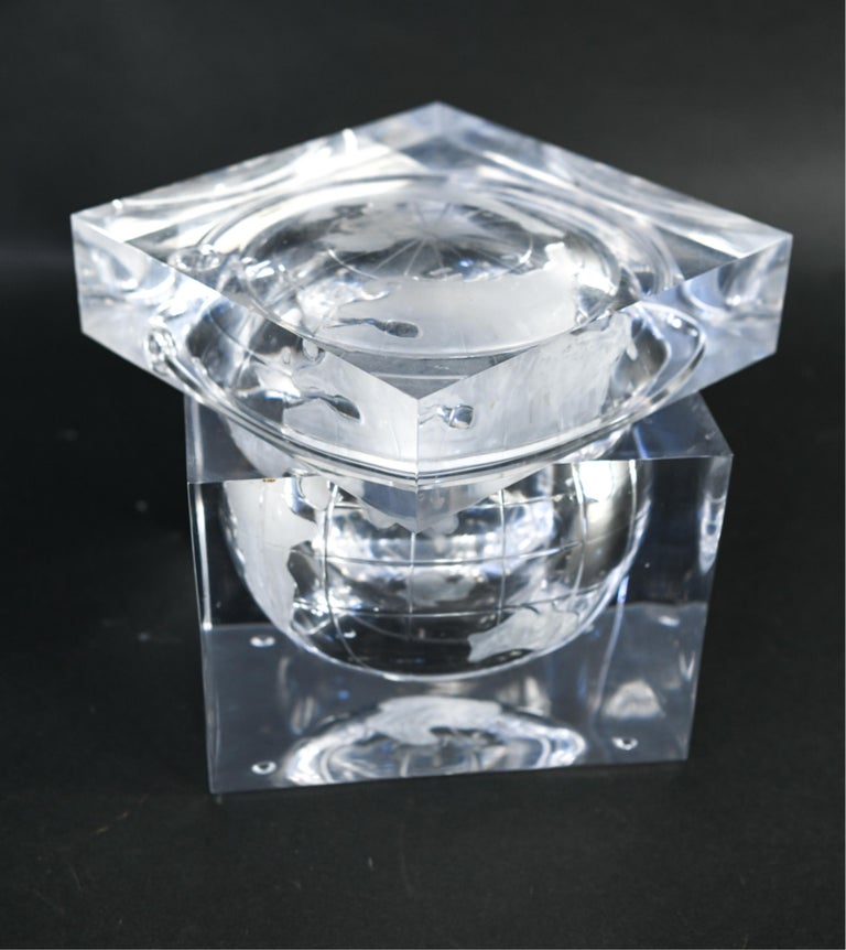 Lucite Globe Ice Bucket For Sale 4