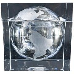 Lucite Globe Ice Bucket