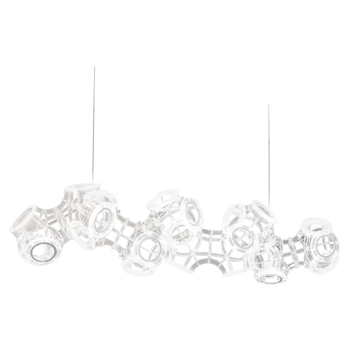 Lucite Helix Chandelier by Cam Crockford