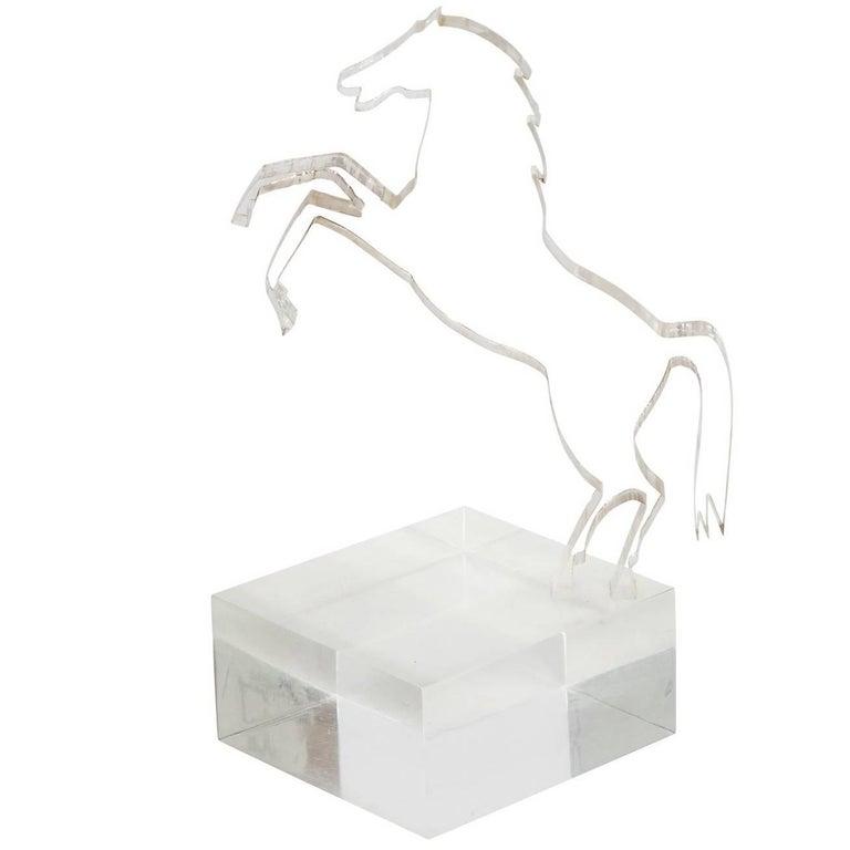 Lucite Horse Sculpture, circa 1970