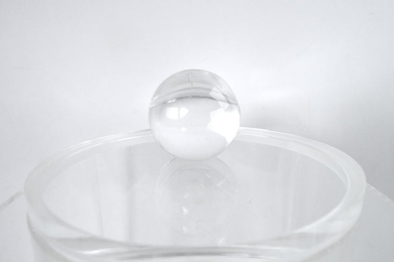Lucite Ice Bucket For Sale 6
