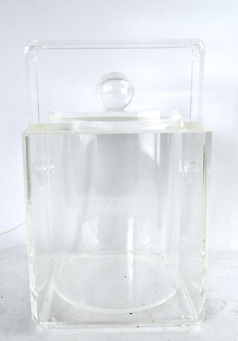 Lucite Ice Bucket For Sale 3