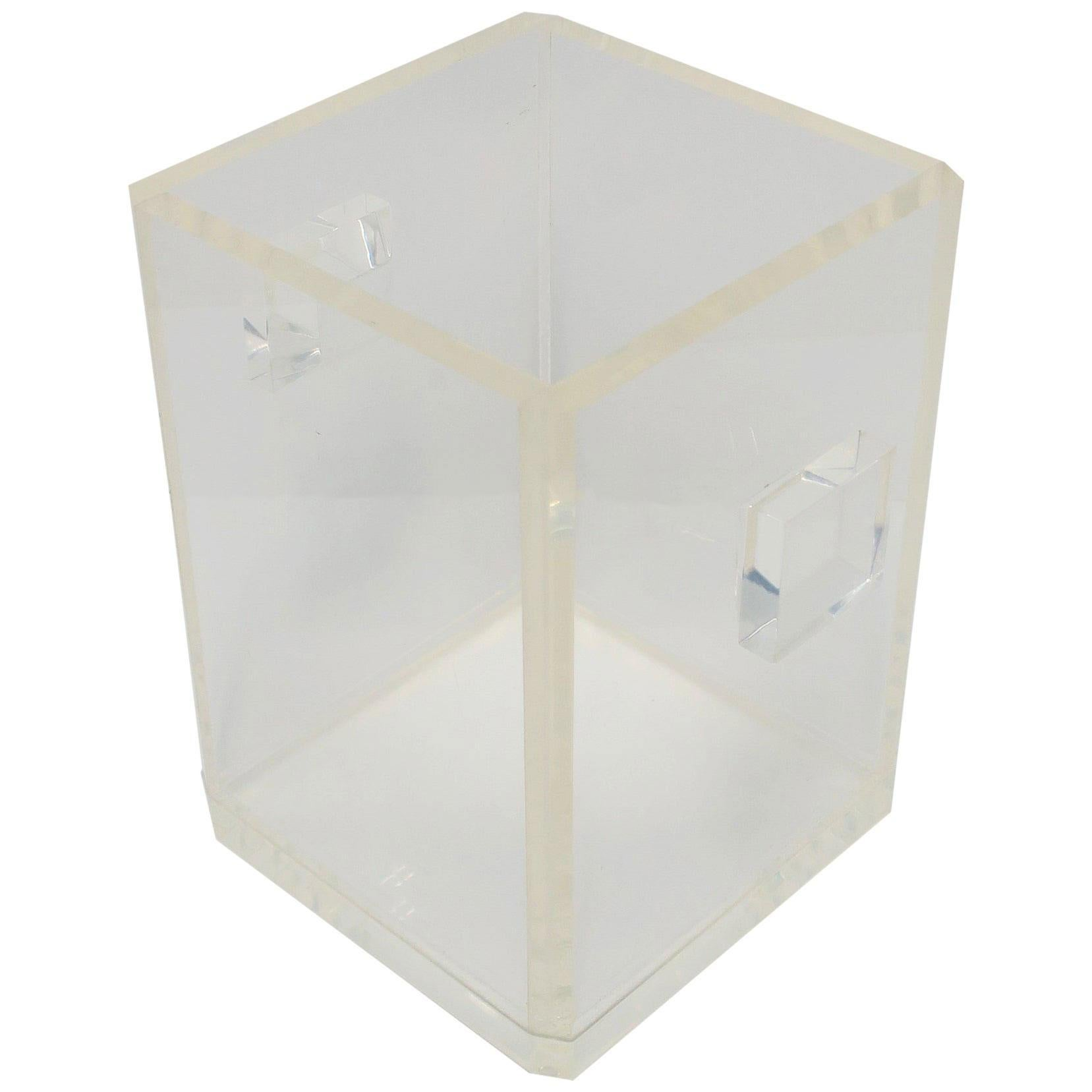 '70s Modern Lucite Ice Bucket or Champagne Wine Cooler