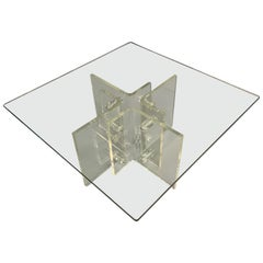 Lucite Intricate Midcentury Coffee Table