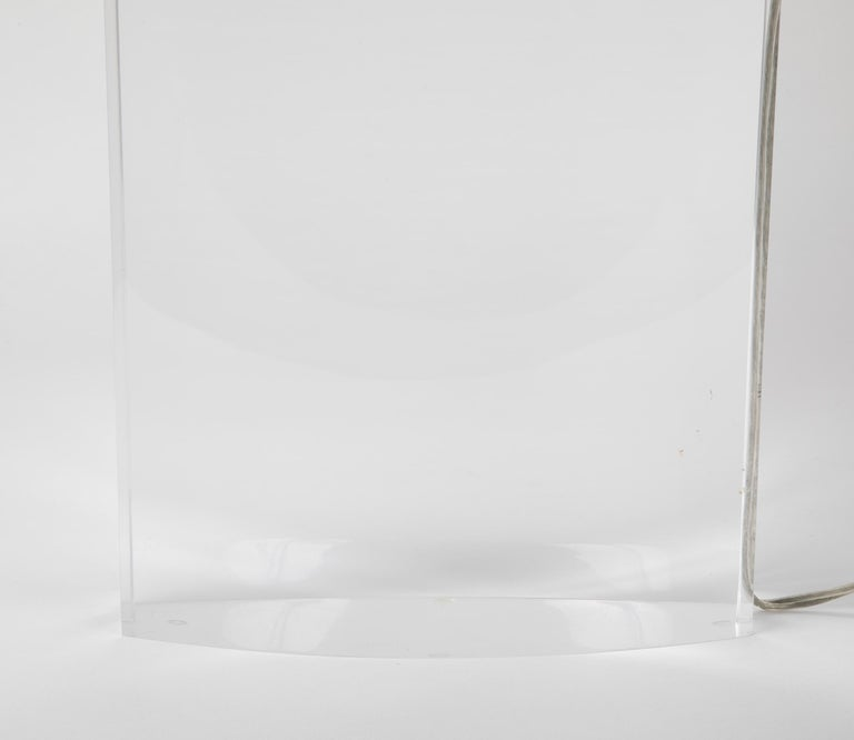 Lucite Lamp by Karl Springer For Sale 8