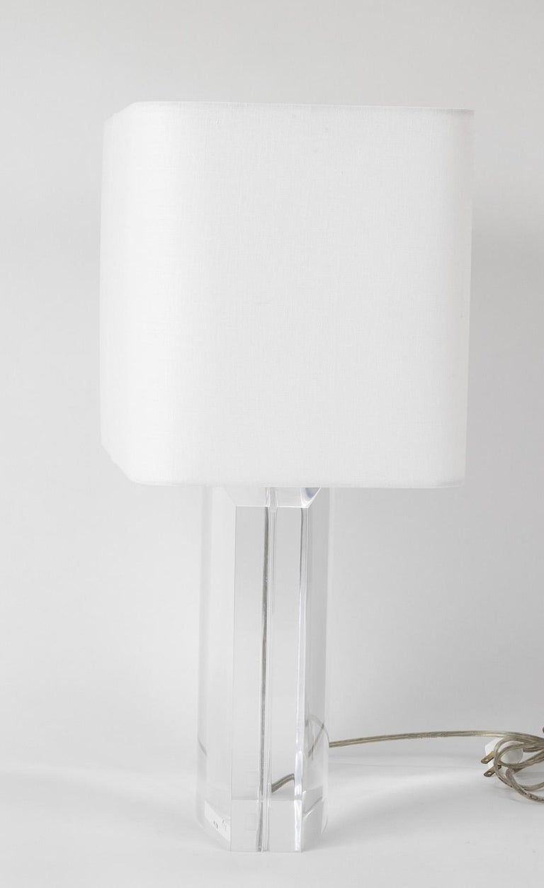 Lucite Lamp by Karl Springer In Good Condition For Sale In Stamford, CT