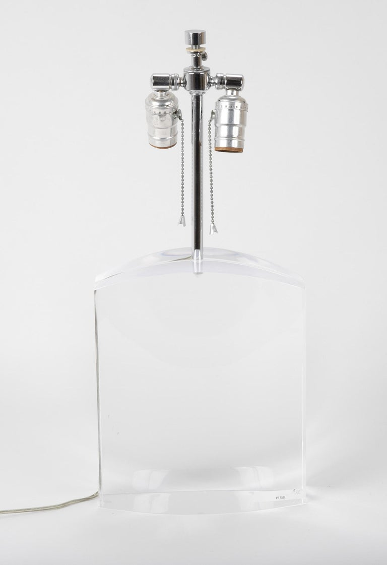 Lucite Lamp by Karl Springer For Sale 5