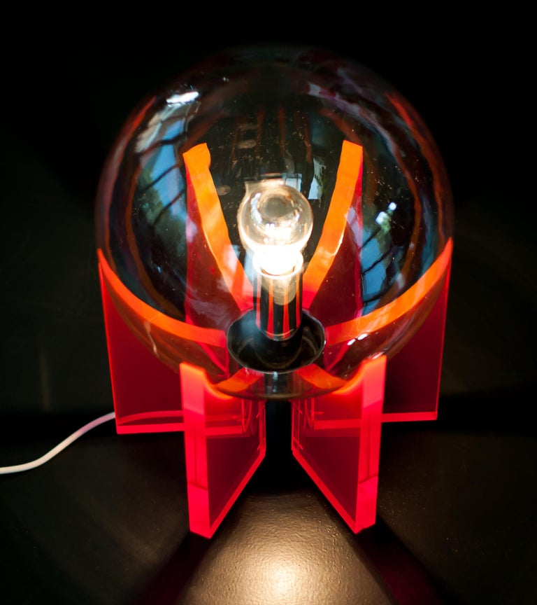Mid-20th Century Lucite Light For Sale