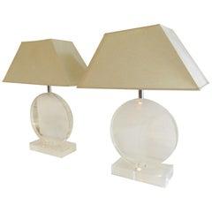 Lucite Midcentury Lamps
