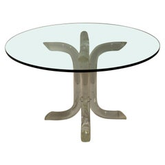Lucite Mid-Century Modern Dining Table in the Style of Charles Hollis Jones
