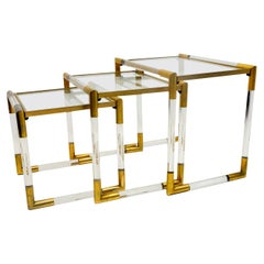 Lucite Nesting Tables by Charles Hollis Jones, 1970s