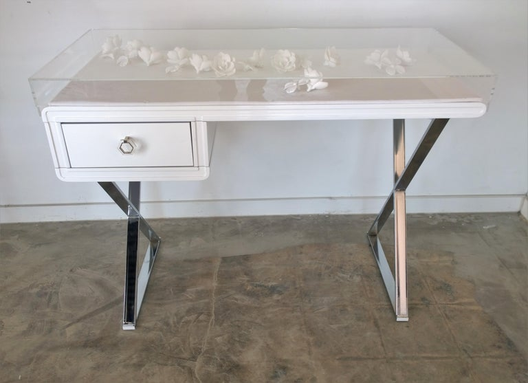 MrsPK&OZ is thrilled to debut our very own Lucite objet d'art white lacquered wood and