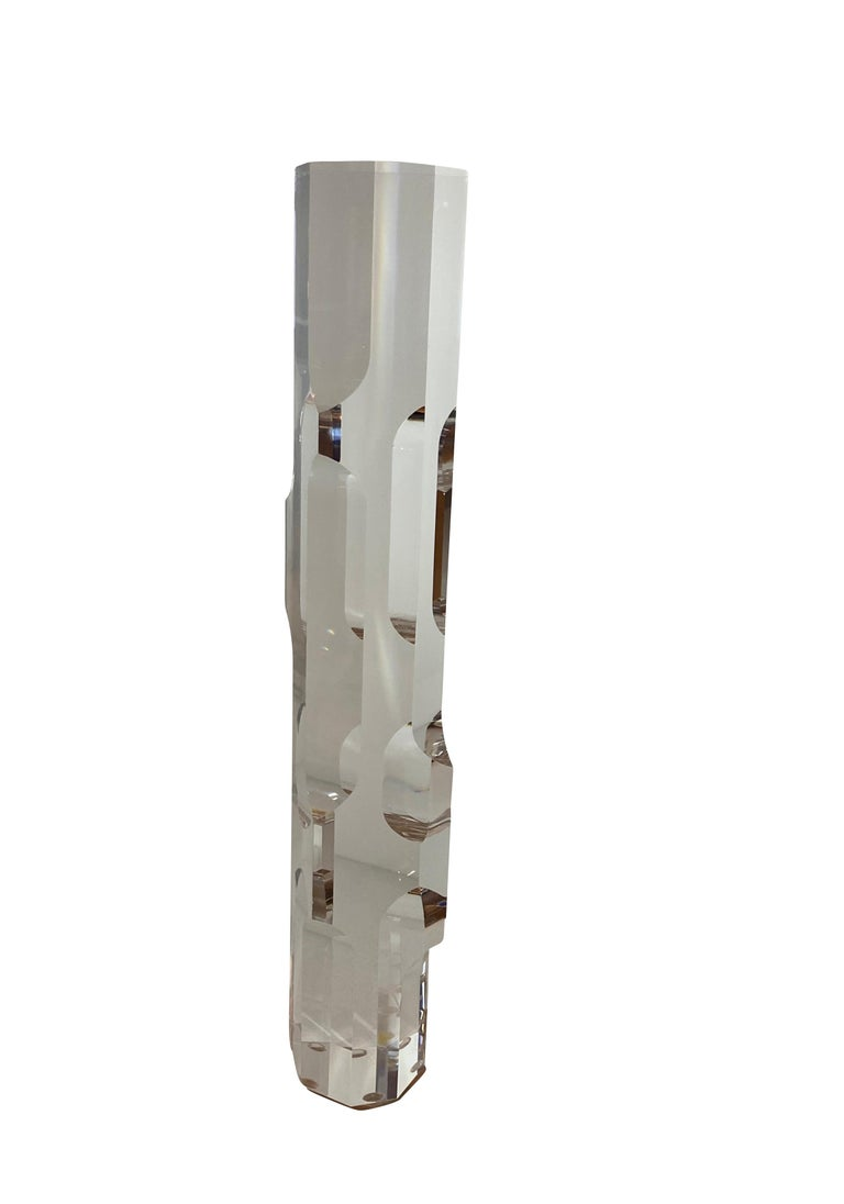 Lucite Prism Tower Sculptures by Alessio Tasca for Fusina In Excellent Condition For Sale In Chicago, IL