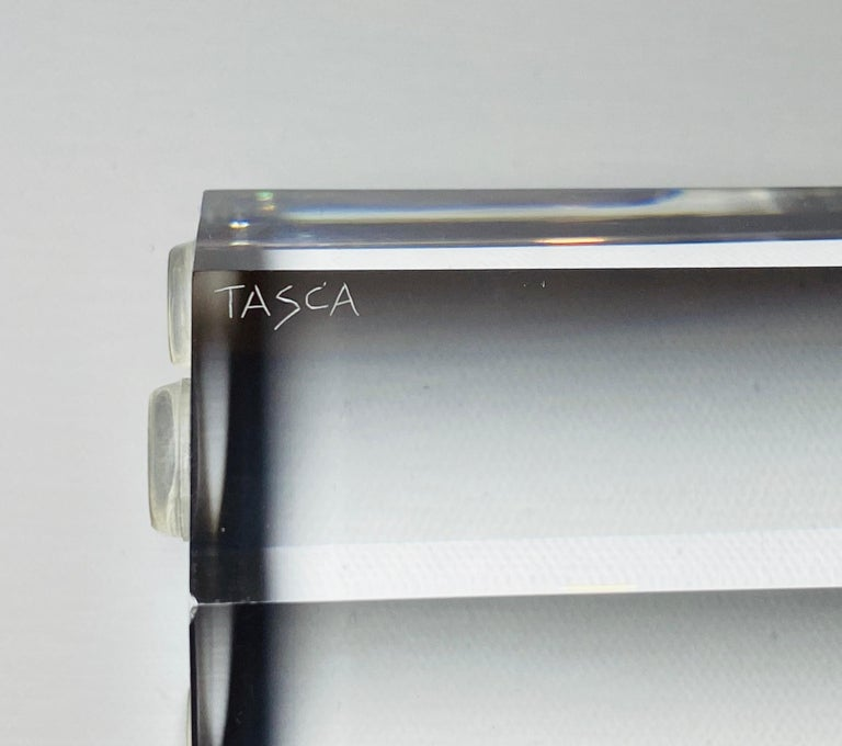Lucite Prism Tower Sculptures by Alessio Tasca for Fusina For Sale 1