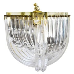 Lucite Ribbon Prism Chandelier in the Style of Triedri and Carlo Nason 1970s