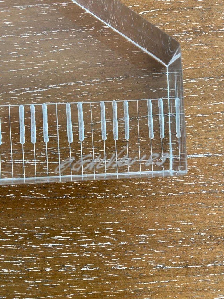 Lucite Sculpture Piano and Hands For Sale 1