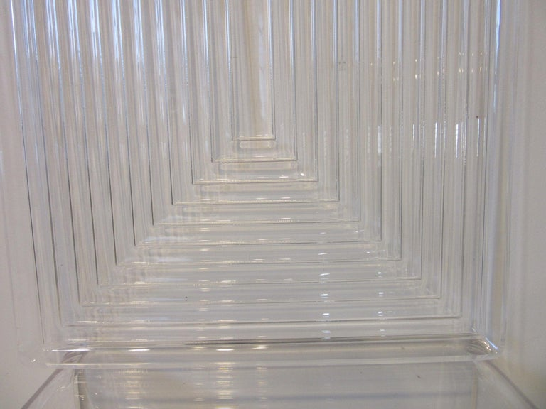 American Lucite Serving Tray in the Manner of Eliel Saarinen and Art Deco For Sale