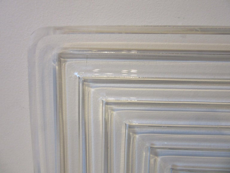 20th Century Lucite Serving Tray in the Manner of Eliel Saarinen and Art Deco For Sale