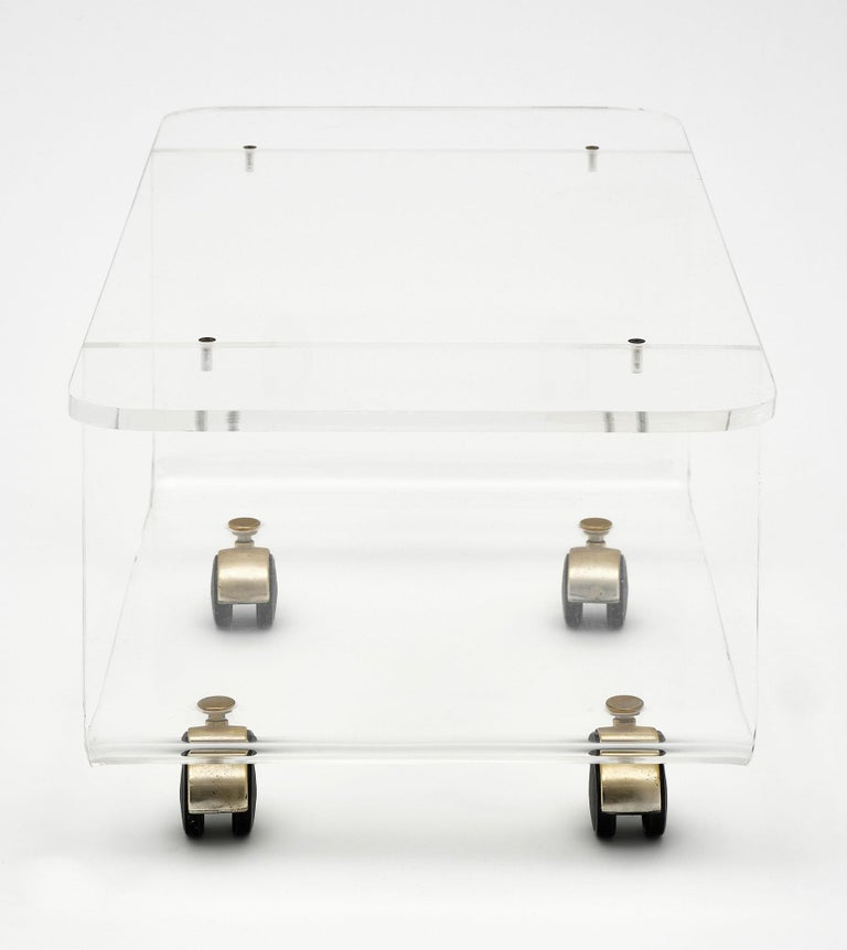 Lucite Side Table by David Lange For Sale 2