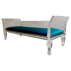 Lucite Sofa by Maison Jansen ,France 1970's