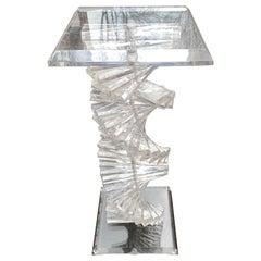 Lucite Spiral Pedestal