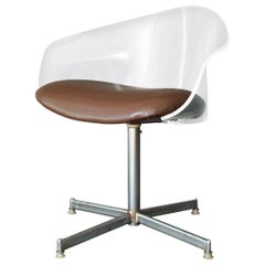 Lucite Swivel Shell Chair