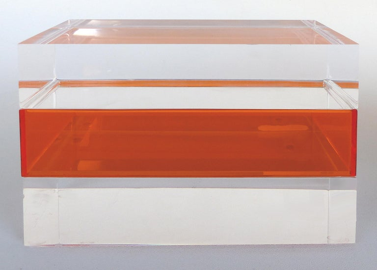 Mid-Century Modern Custom Lucite Trinket or Jewelry Box For Sale