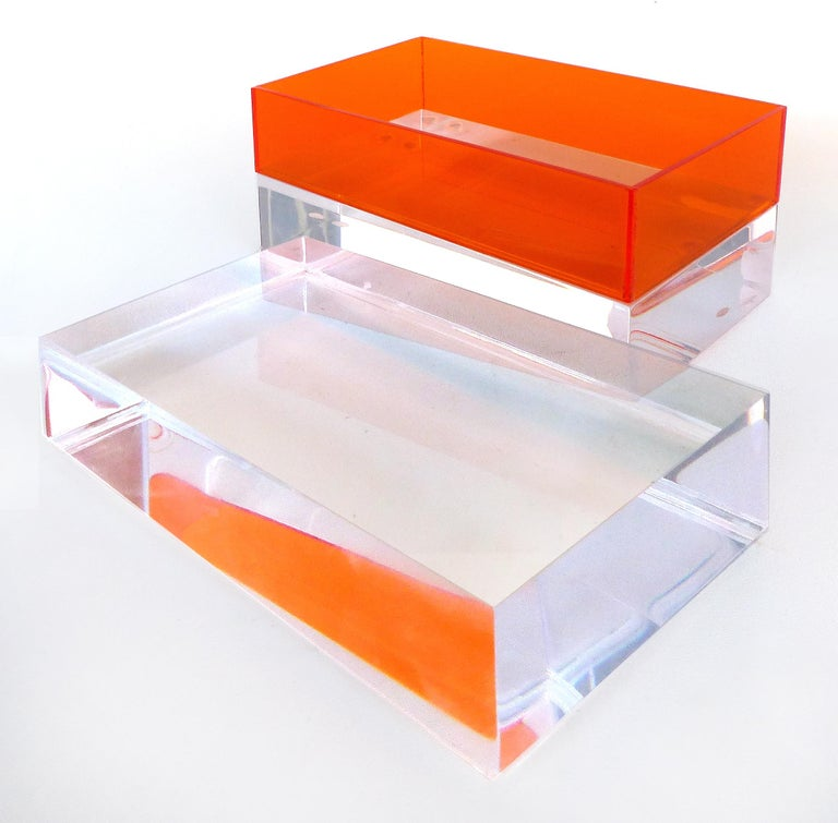 American Custom Lucite Trinket or Jewelry Box For Sale