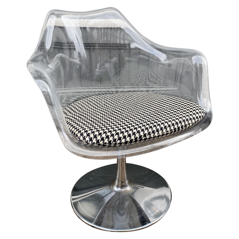 Lucite Tulip Swivel Chair