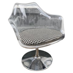 Lucite Tulip Swivel Chair