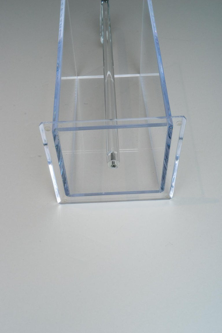 Contemporary Lucite Umbrella Holder