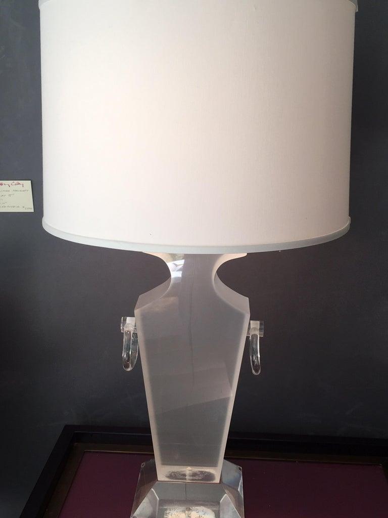 Lucite Urn Shaped Lamp by Karl Springer For Sale 5
