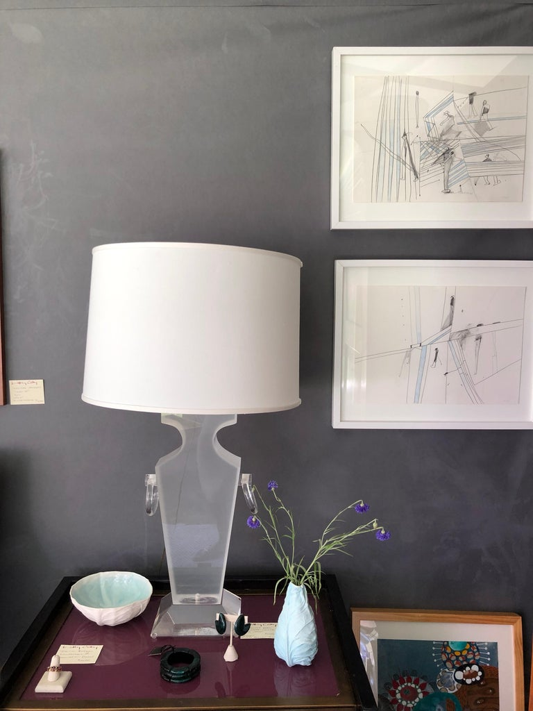 Lucite Urn Shaped Lamp by Karl Springer For Sale 9