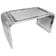 Lucite Waterfall Style Coffee Table