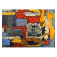 Lucja Szostak Poland, Oil on Board, Abstract Composition, 1980's